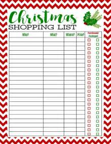 25 best ideas about christmas shopping list on pinterest