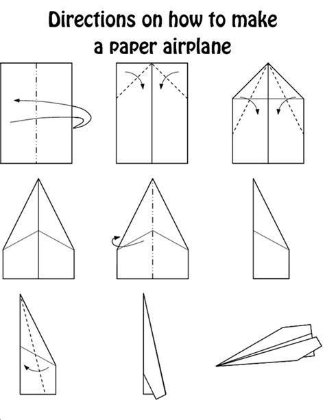 How To Make A Simple Paper Airplane Step By Step - paper airplane directions magura