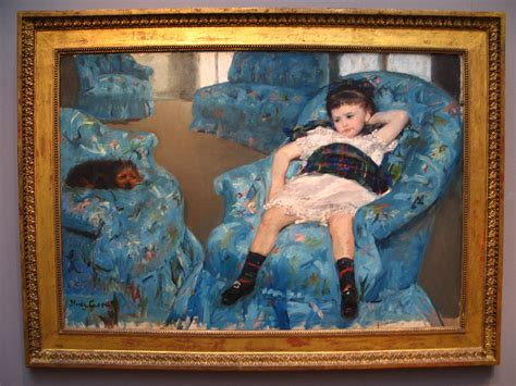 mary cassatt little girl in blue armchair little girl in a blue armchair by mary cassatt a photo