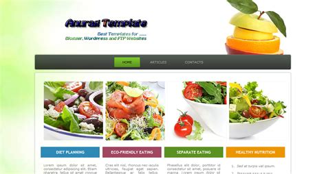 Free Website Template Downloads Nutrition Website Anurag Template Free Blogger Blogspot Nutrition Website Templates