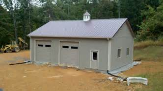 cheap simple design the pole barn garage kits with loft that can car two plans