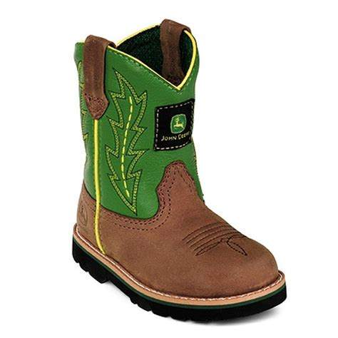 toddler boots deere boys green leather western boots baby