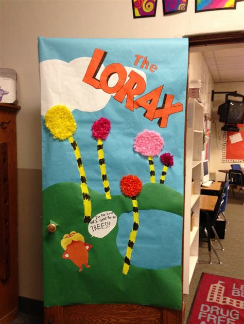 Dr Seuss Door Decorating Contest by Dr Seuss Door Decorating Ideas Lorax Door For Our Dr