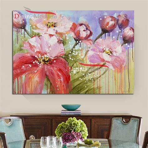 fiori quadri quadri con fiori rosa arredamento soggiorno dipinti moderni