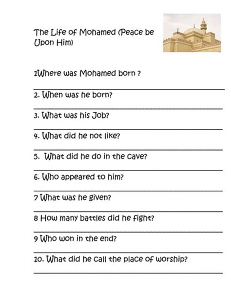 prophet muhammad biography ks2 the life of mohammed by reegs teaching resources tes