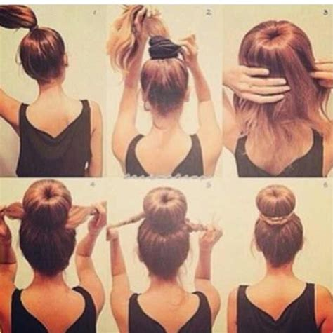 easy buns hairstyles step by step pinterest the world s catalog of ideas