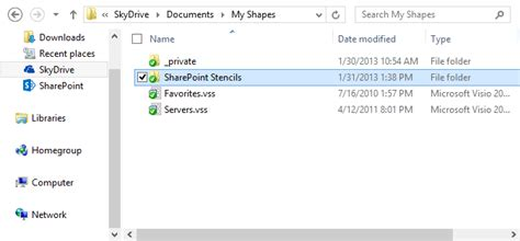 visio stencils folder sharepoint the pc way synchronizing your visio stencils