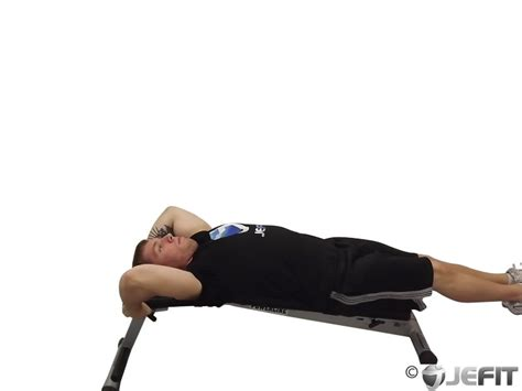 incline bench reverse crunches decline reverse crunch exercise database jefit best