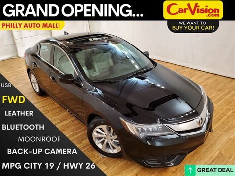 pre owned  acura ilx base moonroof rear camera fwd