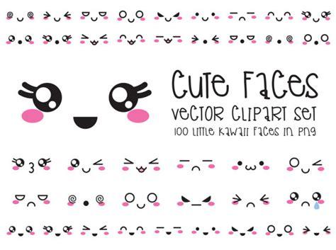 doodle free vs premium premium vector clipart kawaii faces faces clipart set