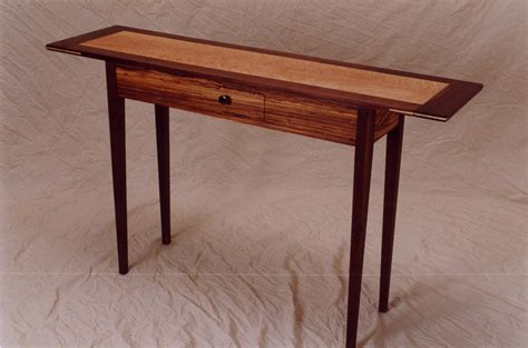 Handmade Zebrawood Hall Table by Vb Woodworks   CustomMade.com