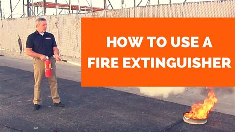 how to use a extinguisher extinguisher