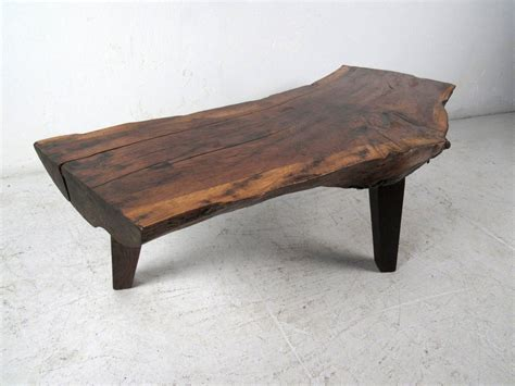 free edge rustic tree slab coffee table at 1stdibs