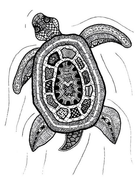 turtle pattern drawing zentangle art zentangle turtle print by printfox on etsy
