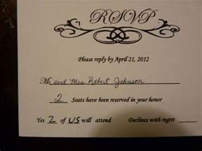 how to fill out rsvp card for wedding rsvp foolishness sorry for the pics weddingbee
