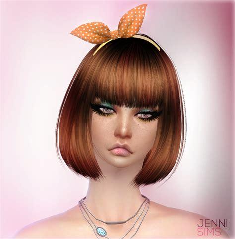flowers bow headband at jenni sims 187 sims 4 updates sims 4 cc bow headband jennisims downloads sims 4 sets of