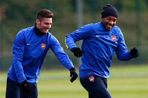 Snapped Thierry Henry And Olivier Giroud A Laugh At