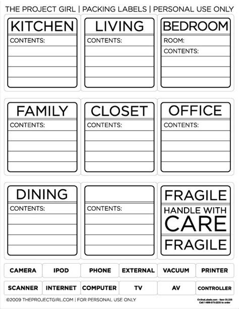 storage label templates 25 best ideas about moving labels on moving