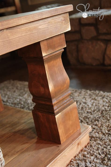 How To Make Coffee Table Legs Modern Farmhouse Coffee Table Shanty 2 Chic