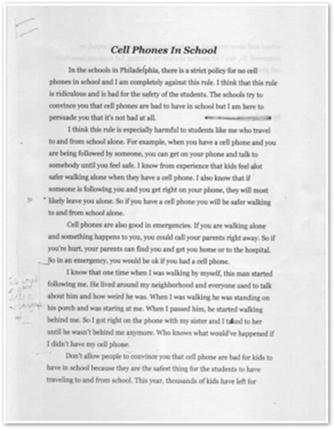 Cell Phone Essay by Argumentative Essay Cell Phones Dangerous Writefiction581 Web Fc2