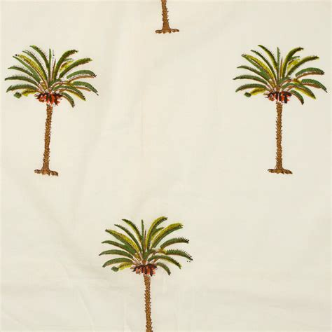 cotton fabric 13 block printed with small single palm