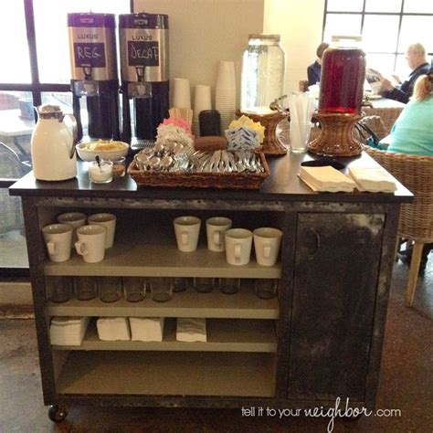 Kitchen Cart Coffee Station Tell It To Your Coffee Cart At Home