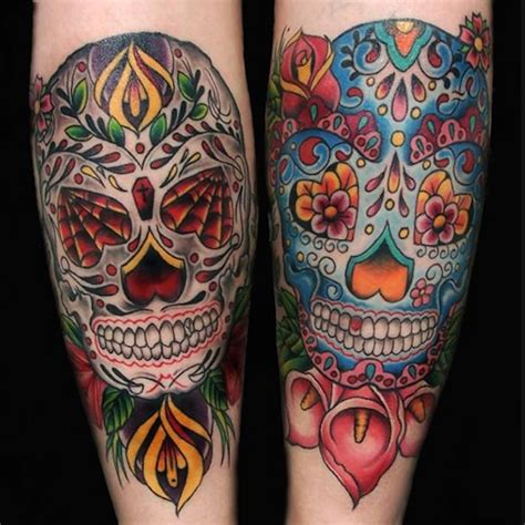 dia de los muertos tattoos 138 cool sugar skull tattoos