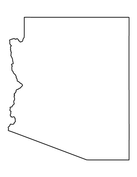 arizona state map outline pin by muse printables on printable patterns at