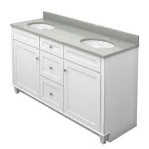 Kraftmaid Vanity Tops Kraftmaid 60 In Vanity In Dove White With Quartz