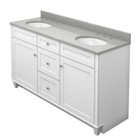 Home Depot Kraftmaid Bathroom Vanity Kraftmaid 60 In Vanity In Dove White With Quartz