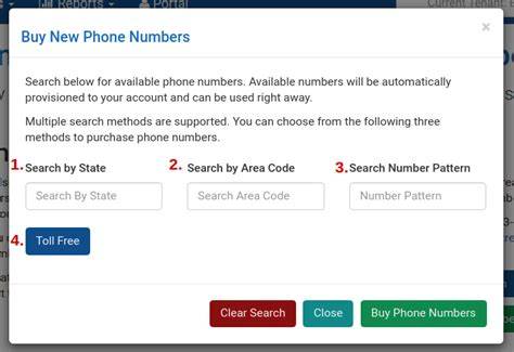 Available Phone Numbers Lookup How To Purchase A New Phone Number In The Portal Fluentstream Technologies