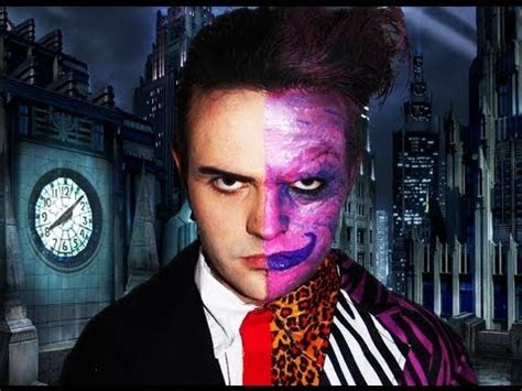 makeup tutorial two face two face batman forever makeup tutorial youtube