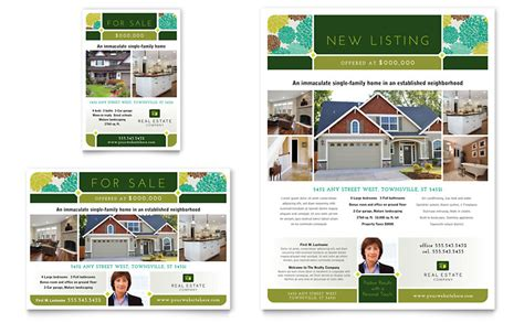 Real Estate Flyer Ad Template Word Publisher Marketing Flyer Templates Microsoft Word