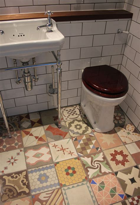 types of kitchen flooring ideas small bathroom flooring ideas with mixed antique tiles