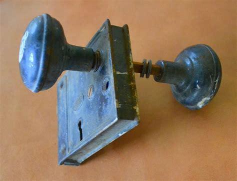 antique corbin door lock w vintage door knobs black metal