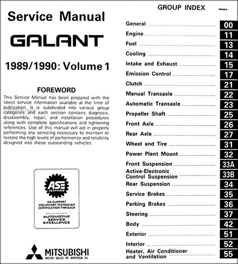 service manual repair manual download for a 1990 mitsubishi galant mitsubishi galant 1988