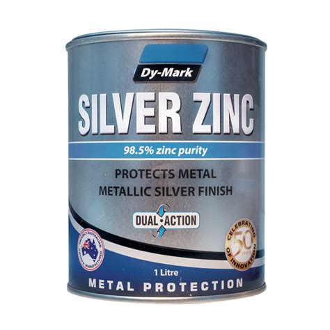 Painting Zinc by Dy 1l Silver Zinc Metal Paint Bunnings Warehouse