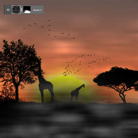 tutorial photoshop sunset african sunset with photoshop photoshop tutorials