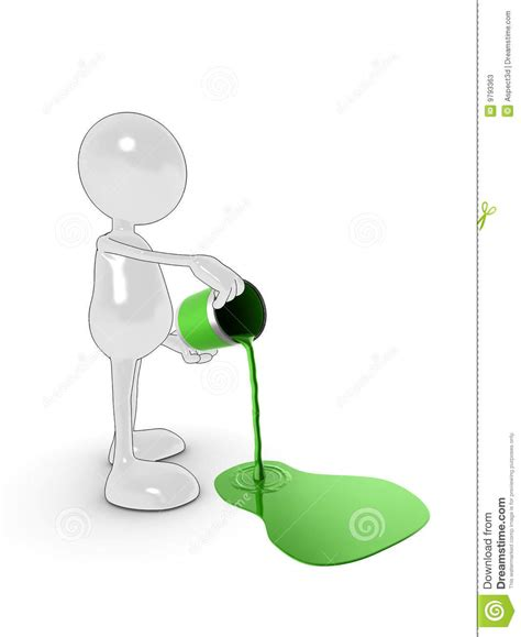 paint man pouring paint man stock illustration image of creativity