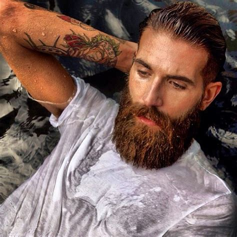 red beard tattoo big thick beard and mustache beards bearded