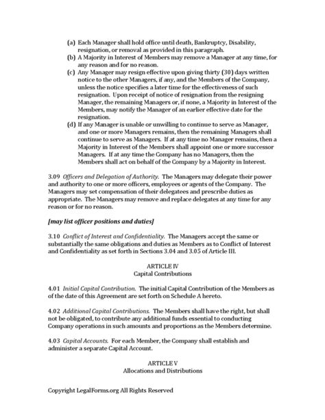 ira llc operating agreement template free ira llc operating agreement template free template
