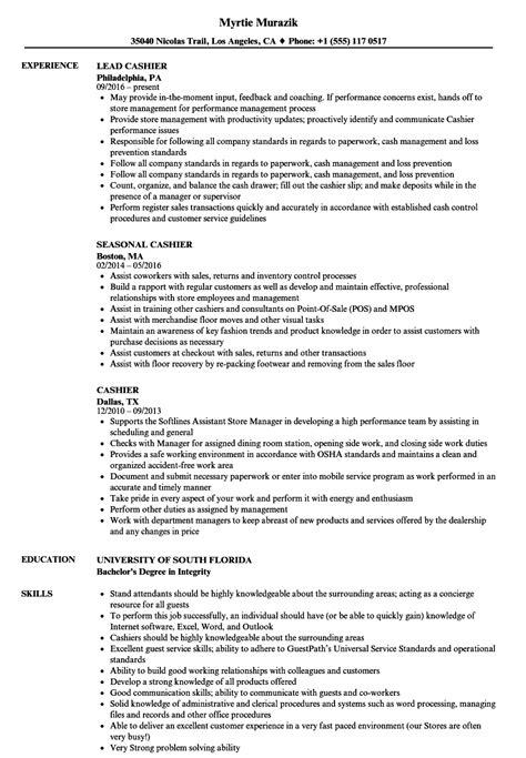 cashier resume sample sample resumes resume jobs pinterest