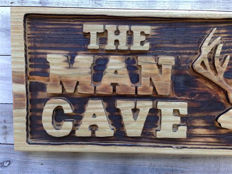 Cave Wall Decor by Cave Wall Decor Carved Cave With Deer Wooden