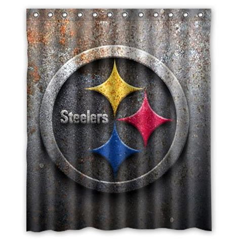 steeler shower curtain pittsburgh steelers shower curtain steelers shower