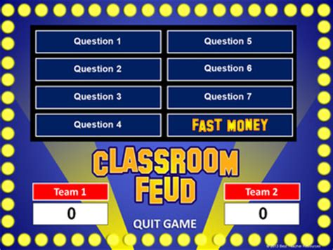 Family Feud Customizable Template classroom feud powerpoint t by best resources
