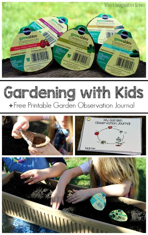 gardening  kids  plant observation journal