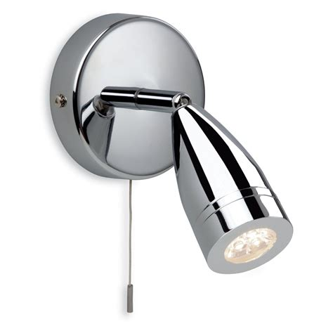Contemporary Polished Chrome Led Bathroom Wall Spotlight Bathroom Spot Lighting