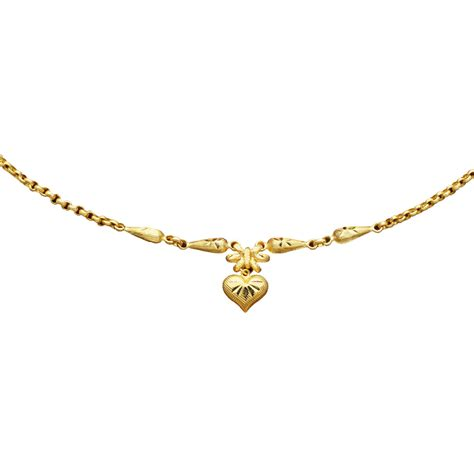 22k gold 16 in 1 2 baht fancy chain gold necklaces