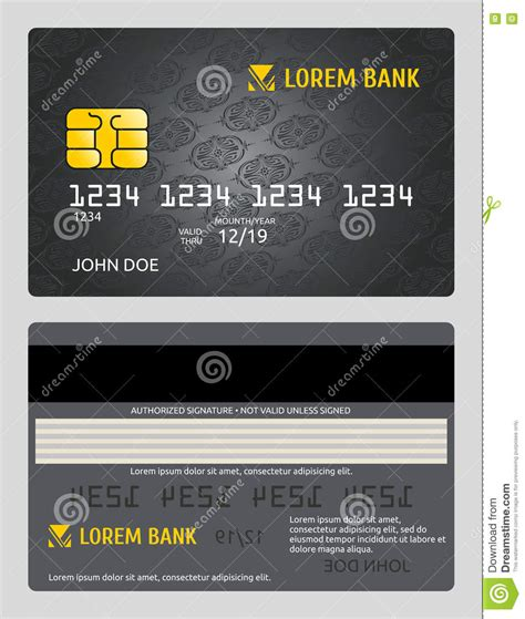 bfgi bank credit card template commercial bank credit card sales model vector template