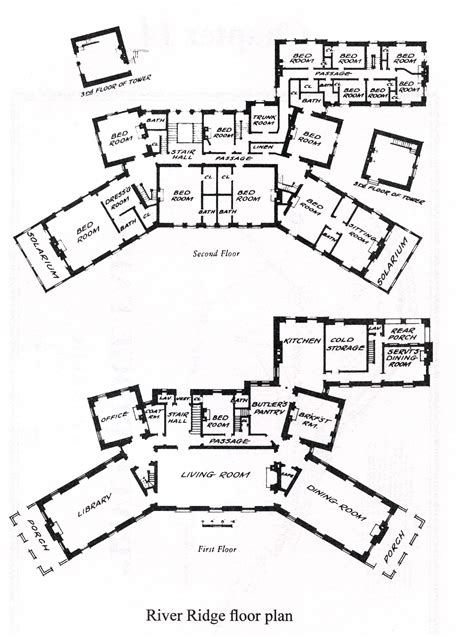 Floor Plans For A Mansion River Ridge A History